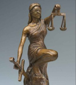 """""""Lady Justice"""" was a gift for a lawyer"""