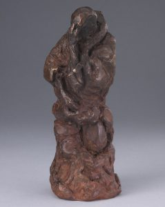 """""""Inner Reflection"""", figure resembles the cloak of a monk.  I now see this work as a representation of the inner struggle of dealing with pain in all its forms, whether it is physical pain or the emotional loss of a loved one.  This sculpture holds a unique place in my heart."""
